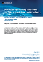 Making and Sustaining the Shift to Services in the Animal Health Industry