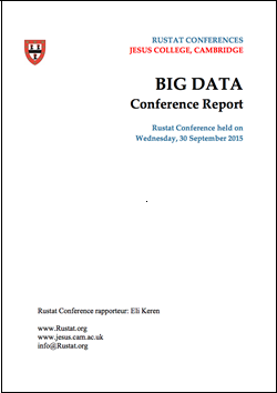 Keynote at Rustat Conference on Big Data