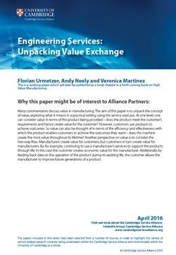 Engineering Services - Unpacking Value Exchange