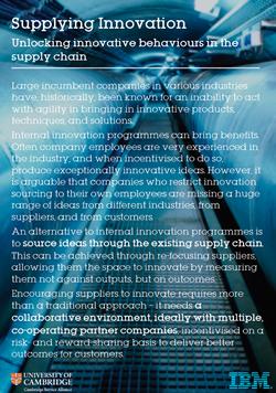 Supplying Innovation - Unlocking Behaviours in the Supply Chain