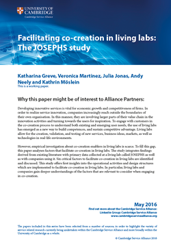 Facilitating co-creation in living labs: The JOSEPHS study