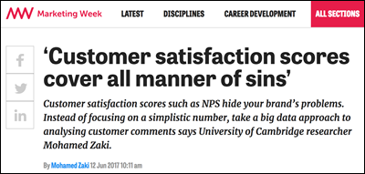 Customer Satisfaction Scores Hide Problems