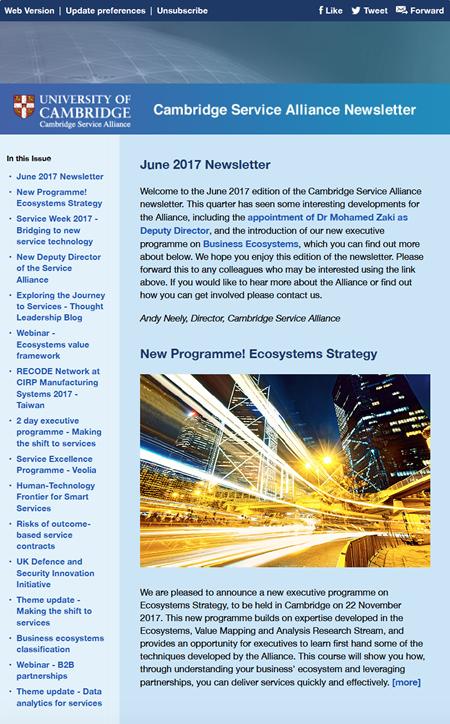 Latest Alliance Newsletter - June 2017