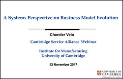 November Webinar - A System Perspective on Business Model Evolution