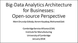 Webinar - Big Data Analytics Architecture for Businesses