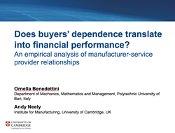 Webinar - Does Buyers' Dependence translate into Financial Performance?
