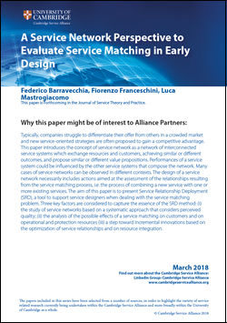 March Paper - A Service Network Perspective to Evaluate Service Matching in Early Design