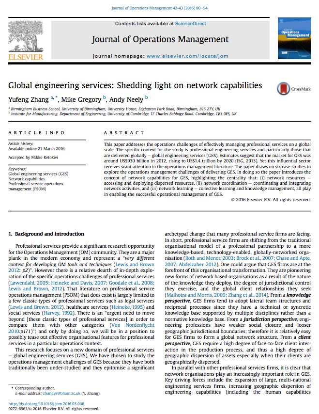 JOM Paper Published on Global Engineering Services