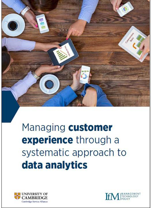 Managing customer experience through a systematic approach to data analytics