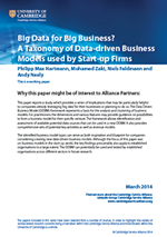A Taxonomy of Data-driven Business Models used by Start-up Firms
