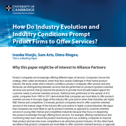 Industry Conditions and Product Firms' Choice to Offer Services