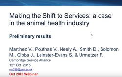 Webinar - Shift to Services in the Animal Health Industry