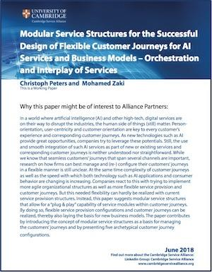 June paper on 'Modular Service Structures for the Successful Design of Flexible Customer Journeys for AI Services and Business Models – Orchestration and Interplay of Services'