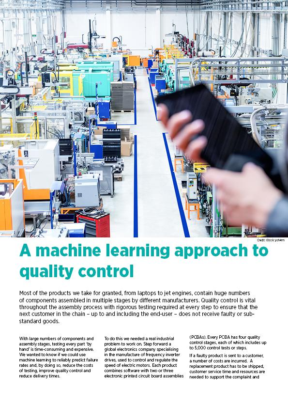 A machine learning approach to quality control