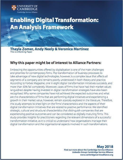 May Paper - Enabling Digital Transformation: An Analysis Framework